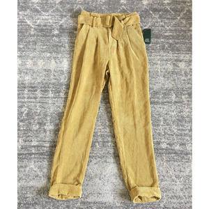 Target Wild Fable 00 Gold Corduroy Pants Belt Boho